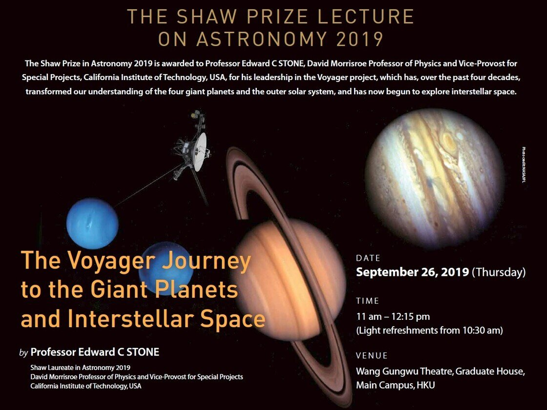 The Shaw Prize Lecture 2019