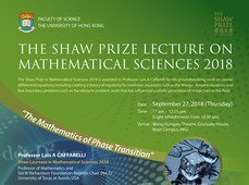 The Shaw Prize Lecture in Mathematical Sciences 2018