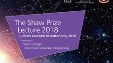 The Shaw Prize Lecture in Astronomy 2018